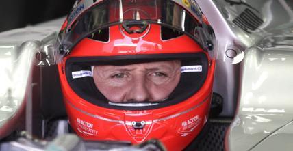 Schumacher antes de una carrera