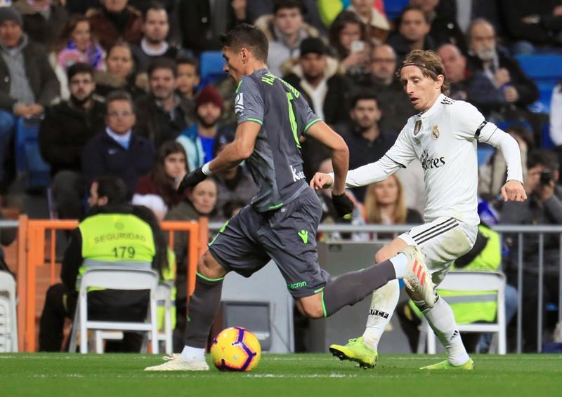 Moreno se escapa de la marca de Luka Modric