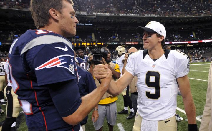 Brady y Brees se saludan tras enfrentarse en 2017