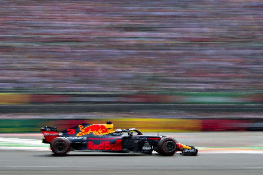 Daniel Ricciardo durante el GP de México
