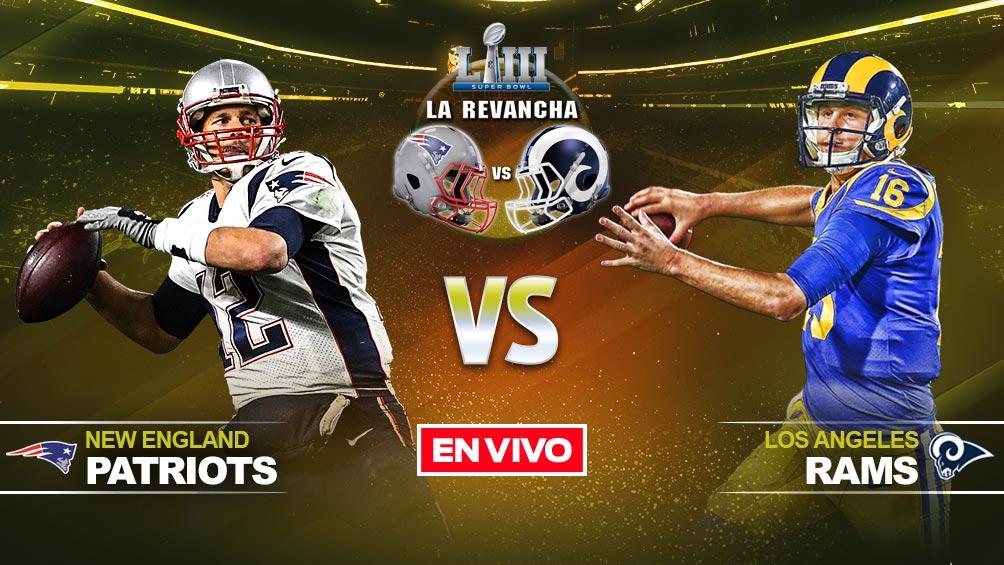 New England Patriots vs Los Angeles Ramsen vivo y en directo Super Bowl LIII 428107969e117