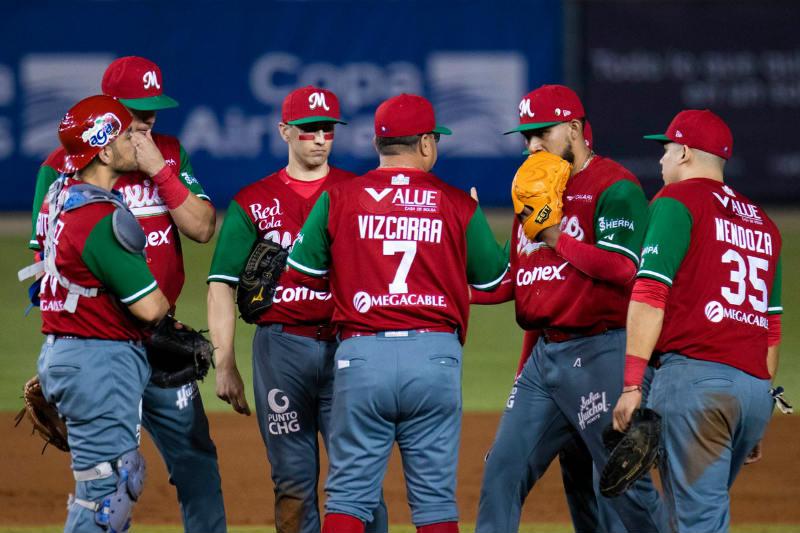 Jugadores de los Charros de Jalisco durante el partido