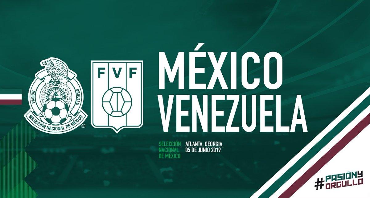 México se enfrentará a Venezuela en Atlanta el 5 de Junio