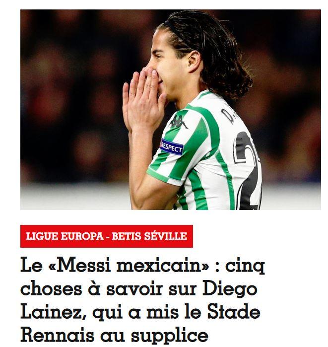 Láinez ya es llamado el 'Messi Mexicano' ¡hasta en Europa!