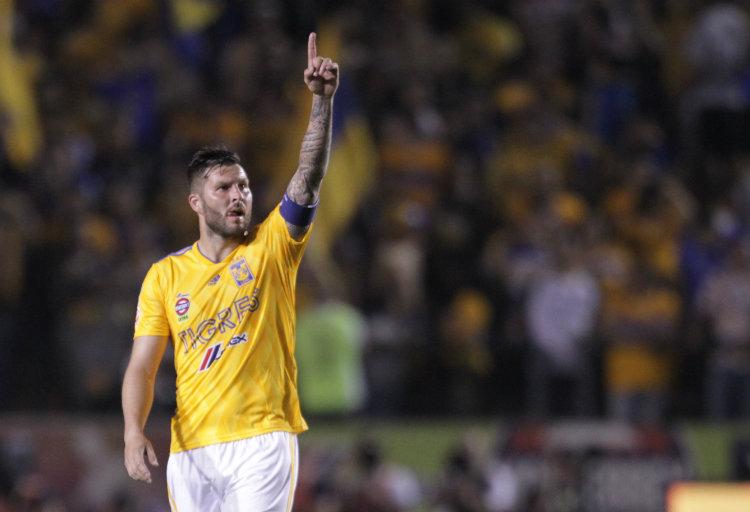 André-Pierre Gignac anota su gol número 100 con Tigres