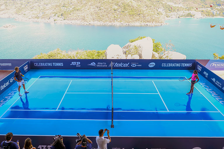 Dolorosa caída del único mexicano en el cuadro — ATP Acapulco