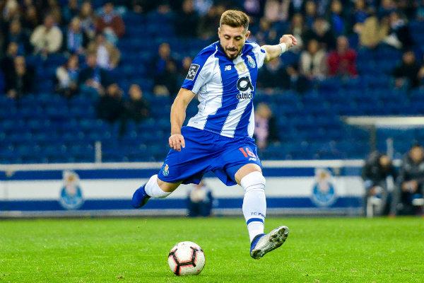 Herrera en un partido del Porto