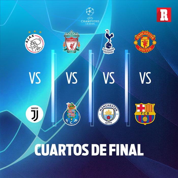 Así los duelos de Cuartos de Final de Champions League