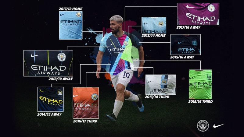 Diseños que contiene el jersey especial del Man City