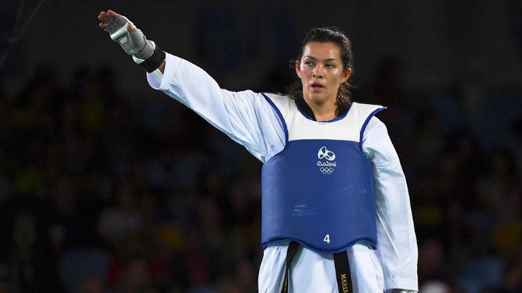 María Espinoza, durante su participación en los JO de Río 2016
