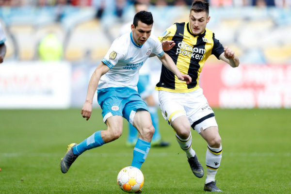 El doblete de Chucky Lozano contra el Vitesse