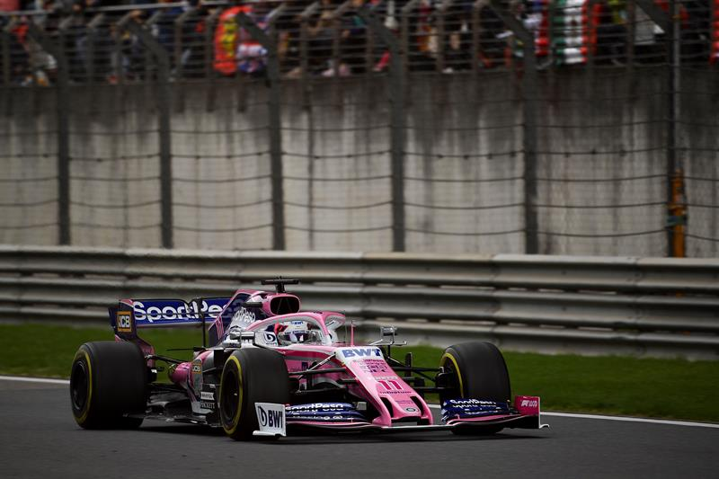 Monoplaza de Sergio Pérez en el GP de China