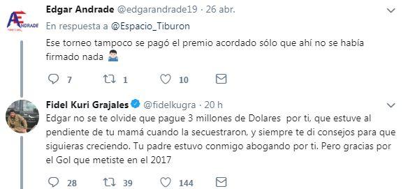 Kuri contesta a los 'reclamos' de Andrade