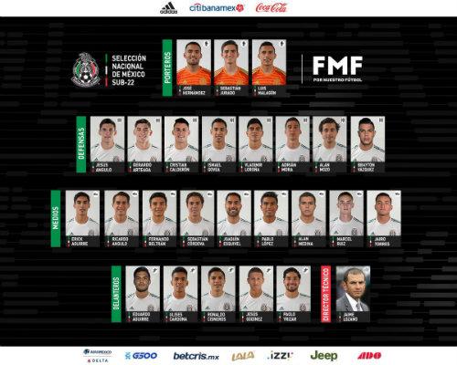 Lista la convocatoria de México Sub-22 para el torneo en Toulon