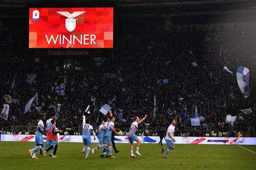 Lazio celebra su triunfo frente al Atalanta