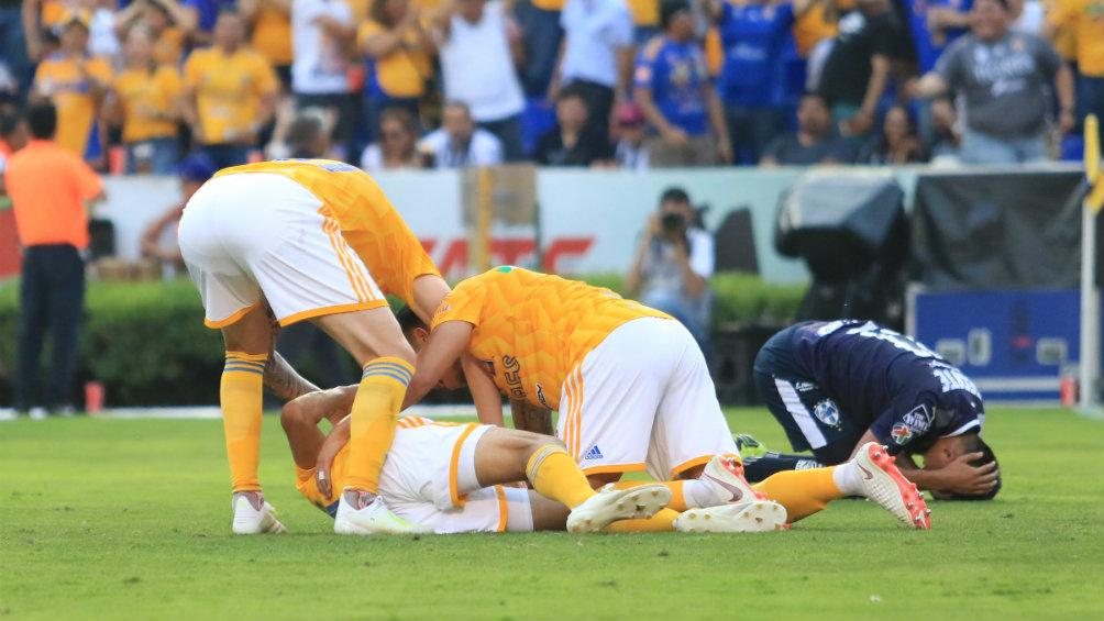 Tigres festeja anotación contra Rayados