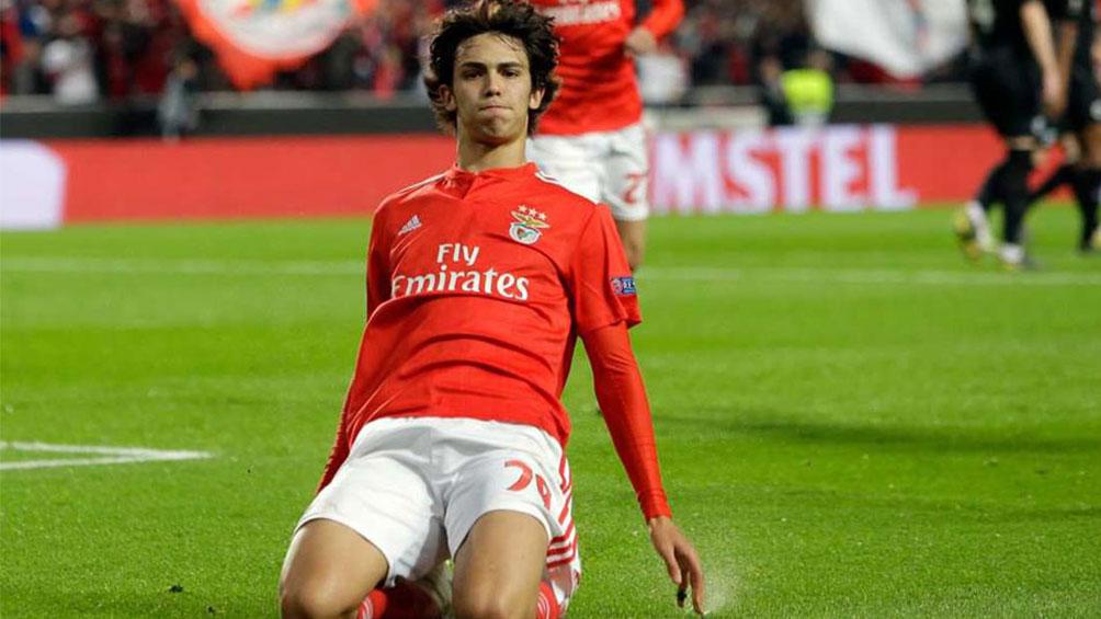 João Félix, celebrando un gol esta temporada.