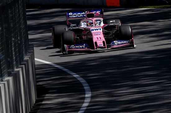 Sergio Pérez durante práctica para GP de Canad