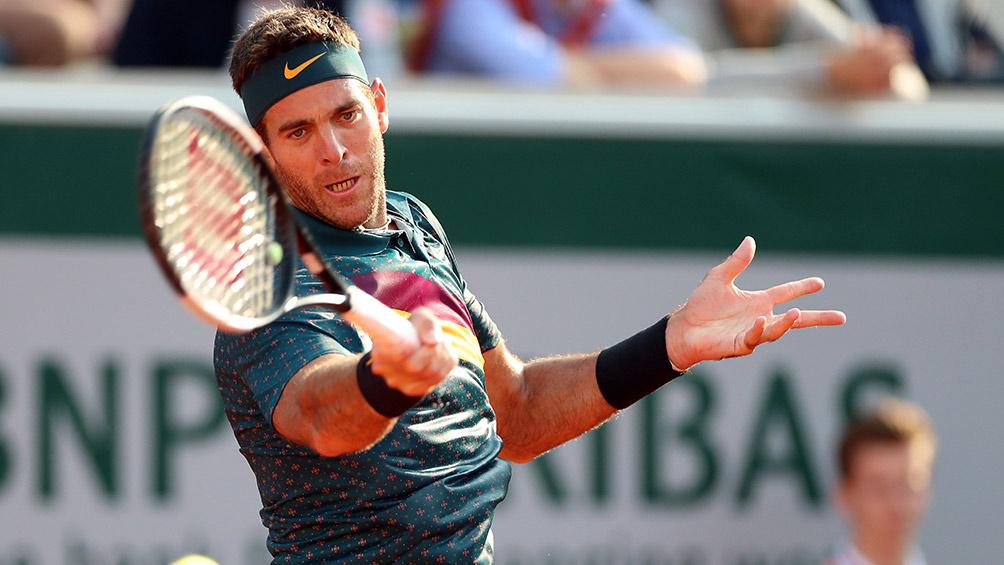 Juan Martín del Potro durante Roland Garros