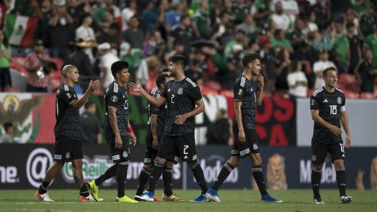 Selección Mexicana celebra victoria en Copa Oro