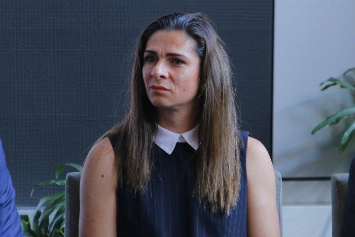 Ana Guevara en conferencia de prensa