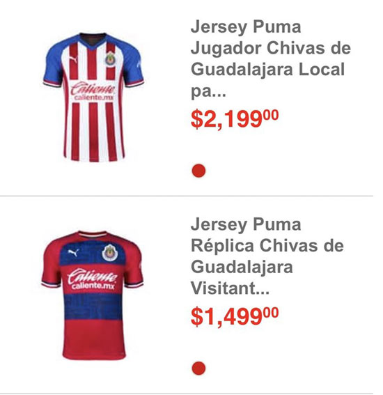 Así mostró la tienda las nuevas playeras de Chivas