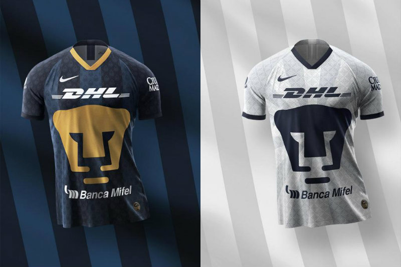 Camiseta de Pumas de local y visitante para el Apertura 2019