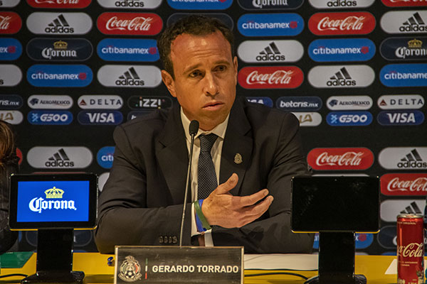 Gerardo Torrado en conferencia de prensa