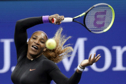 Serena Williams durante un partido en el US Open