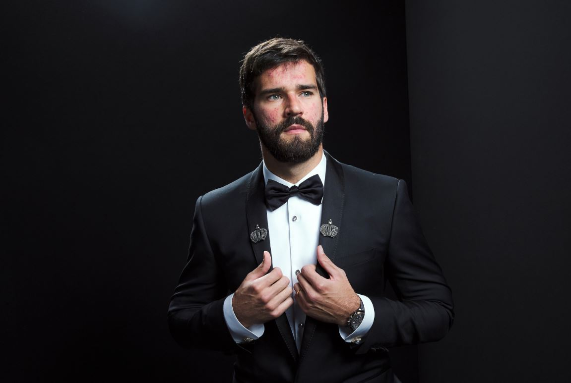 Alisson Becker durante la gala de los premios The Best