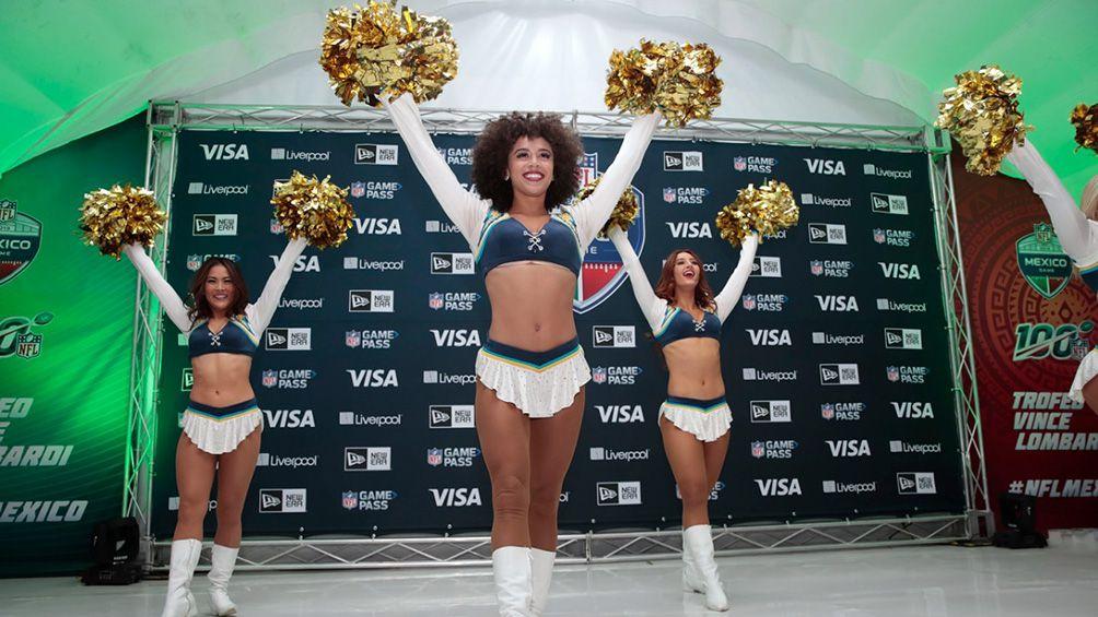 Porristas de Chargers deleitaron a fans previo a NFL México - Diario Deportivo Record