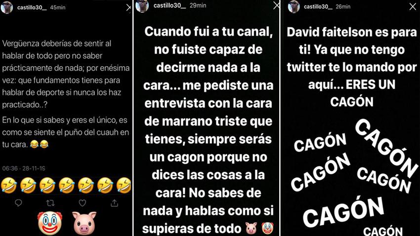 Nico Castillo responde a Faitelson; le recuerda golpe del 'Cuau'