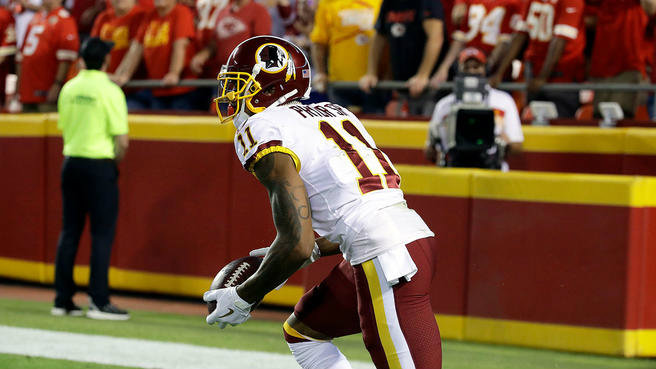 Terrelle Pryor con los Washington Redskins