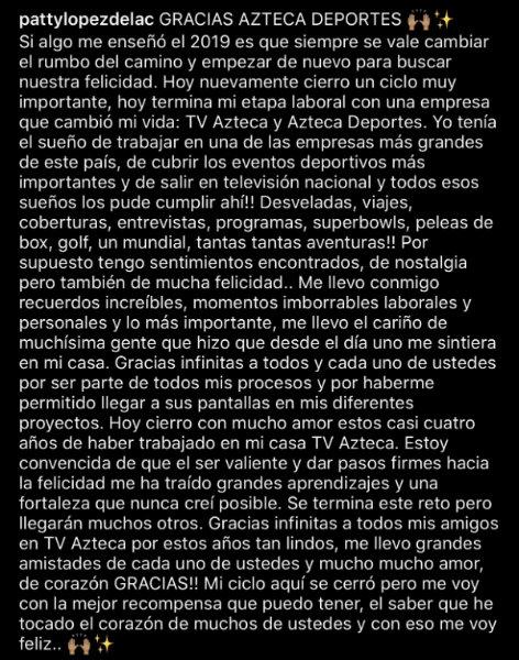 TWITTER @PATTYLOPEZDELAC