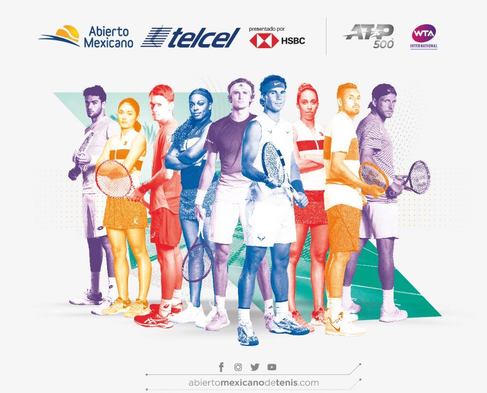 Presentan la lista de jugadores que participarán en el Abierto Mexicano