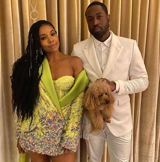 Dwyane Wade y su esposa