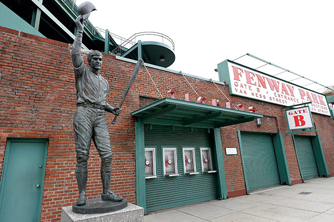 Afueras de Fenway Park, casa de los Boston Red Sox