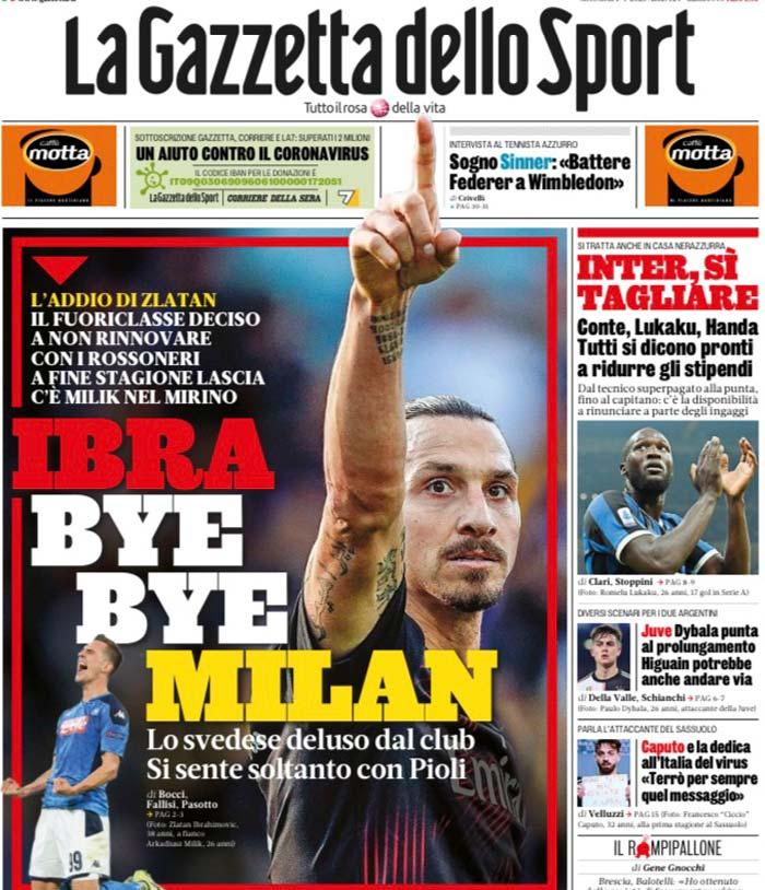 Zlatan Ibrahimovic dejaría al Milan al finalizar su contrato, según prensa italiana