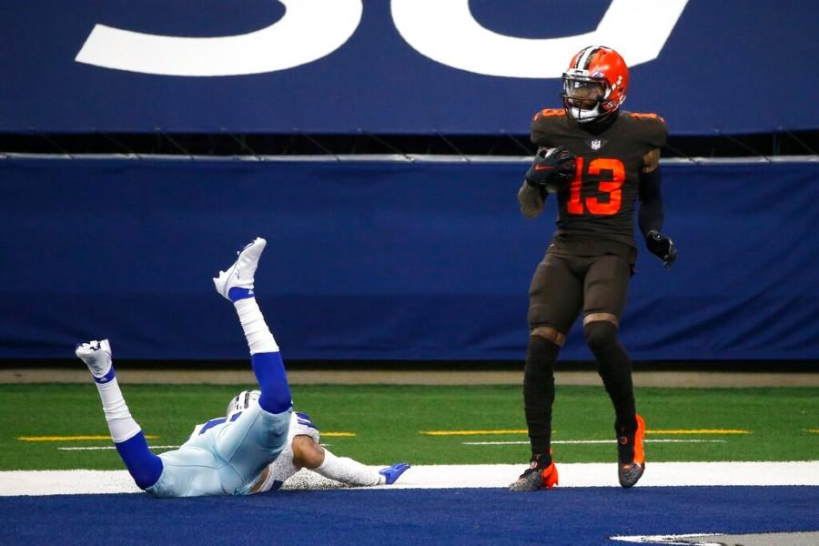 Odell Beckham Jr. durante un partido con los Browns