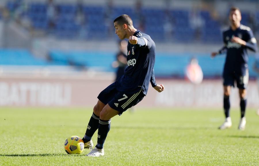 Cristiano Ronaldo en un partido de Juventus