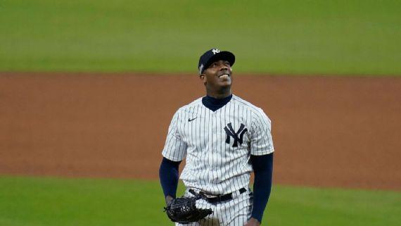 Aroldis Chapman cerrador de Yankees
