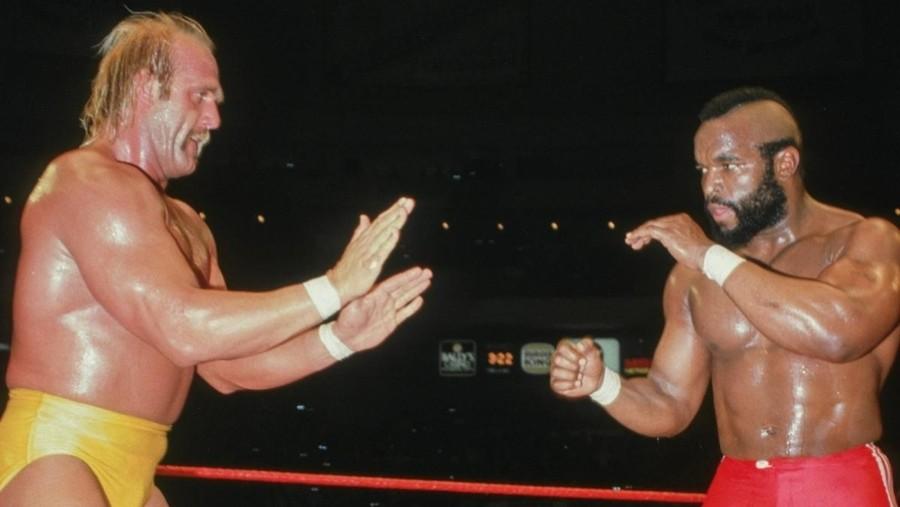 Mr. T ante Hulk Hogan