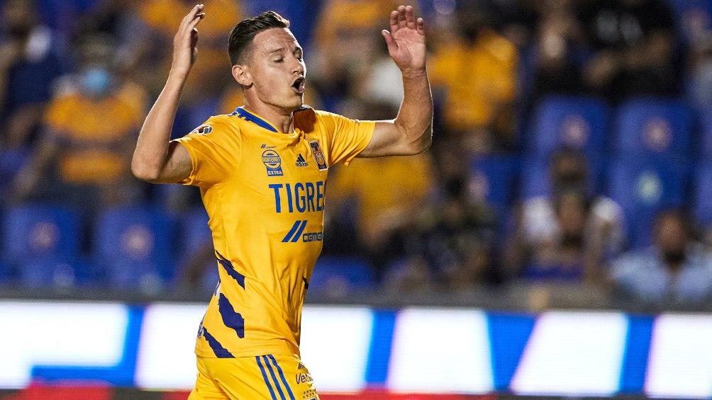 Florian Thauvin en lamento con Tigres