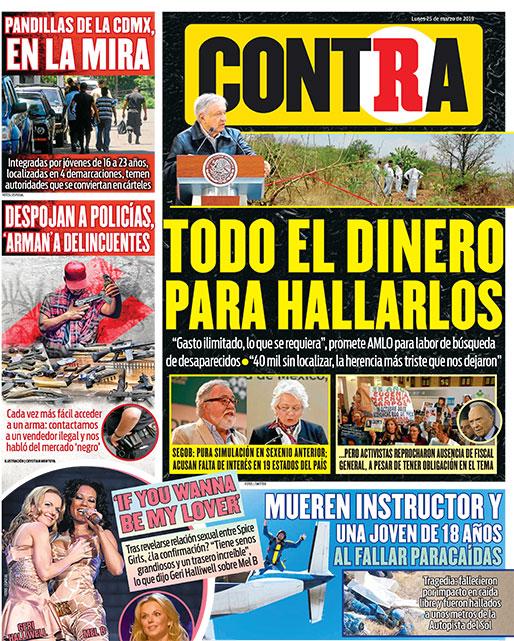 Portada Contra 25-03-2019