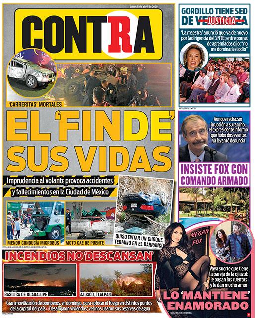 Portada Contra 08-04-2019