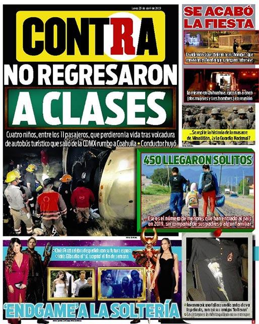 Portada Contra 29-04-2019