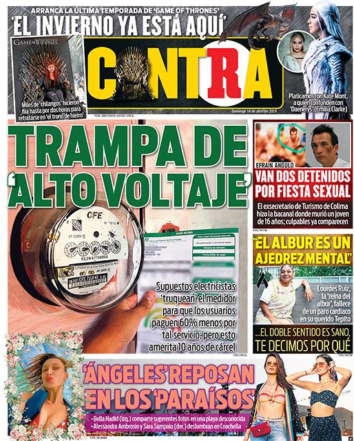Portada Contra 14-04-2019