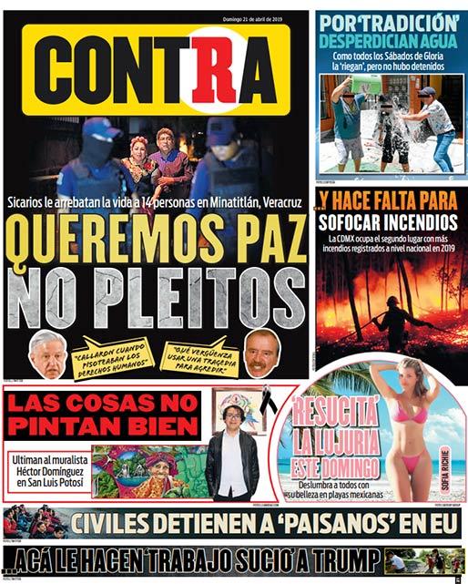Portada Contra 21-04-2019