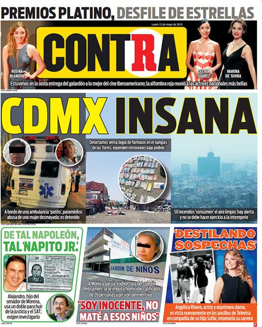 Portada Contra 13-05-2019