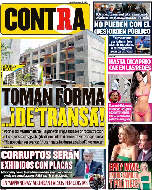 Portada Contra 20-05-2019